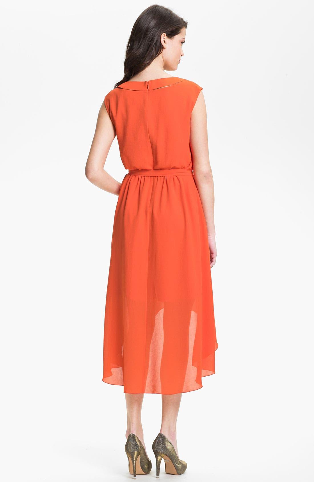 Alternate Image 2  - Jessica Simpson Blouson High/Low Crepe Dress
