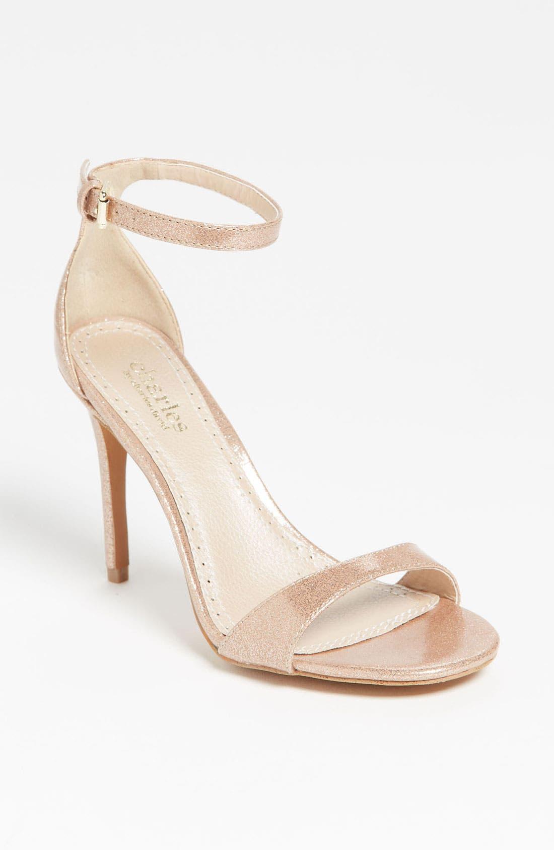 'Radial' Sandal,                             Main thumbnail 1, color,                             Copper Glitter Patent