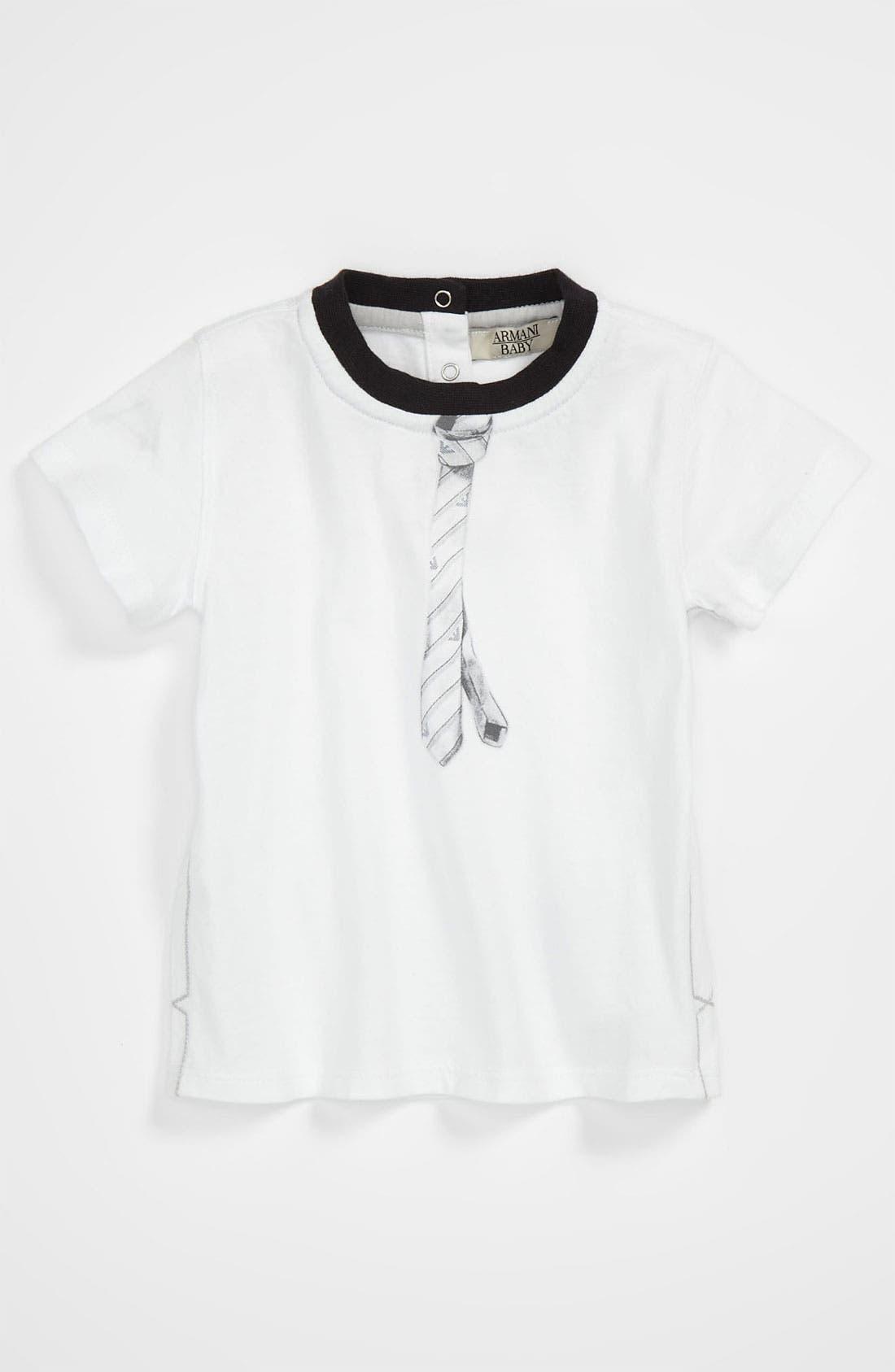Main Image - Armani Junior Graphic T-Shirt (Infant)