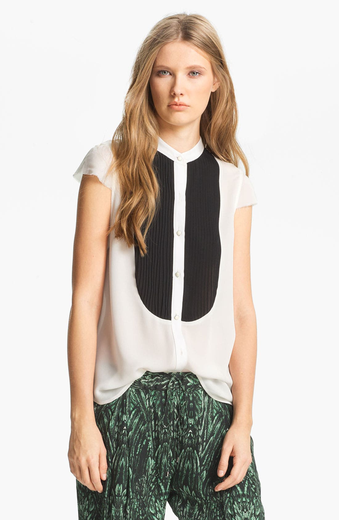 Alternate Image 3  - Haute Hippie Pleated Bib Chiffon Blouse