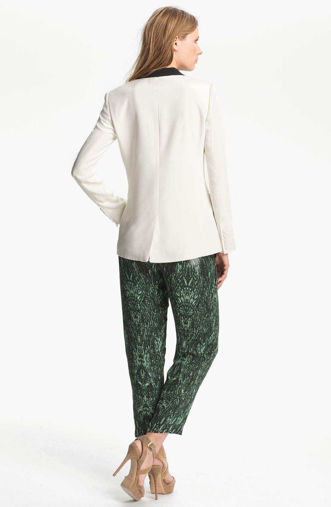 Alternate Image 4  - Haute Hippie Contrast Lapel Silk Blazer