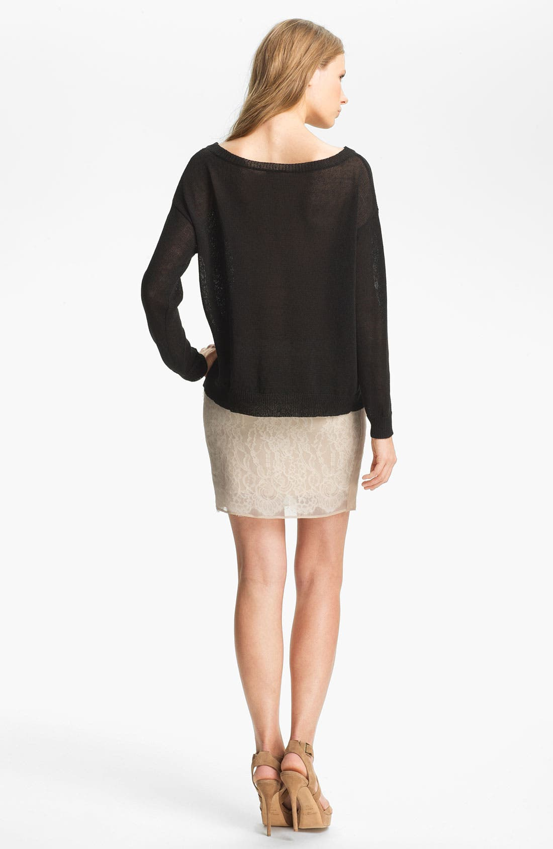 Alternate Image 4  - Haute Hippie Lace Inset Sweater
