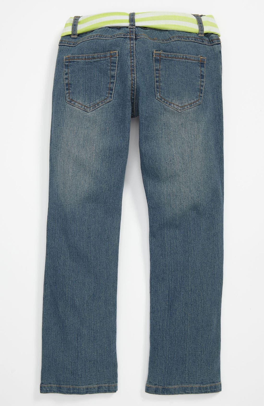 Alternate Image 2  - Pumpkin Patch Embroidered Denim Jeans (Little Girls & Big Girls)