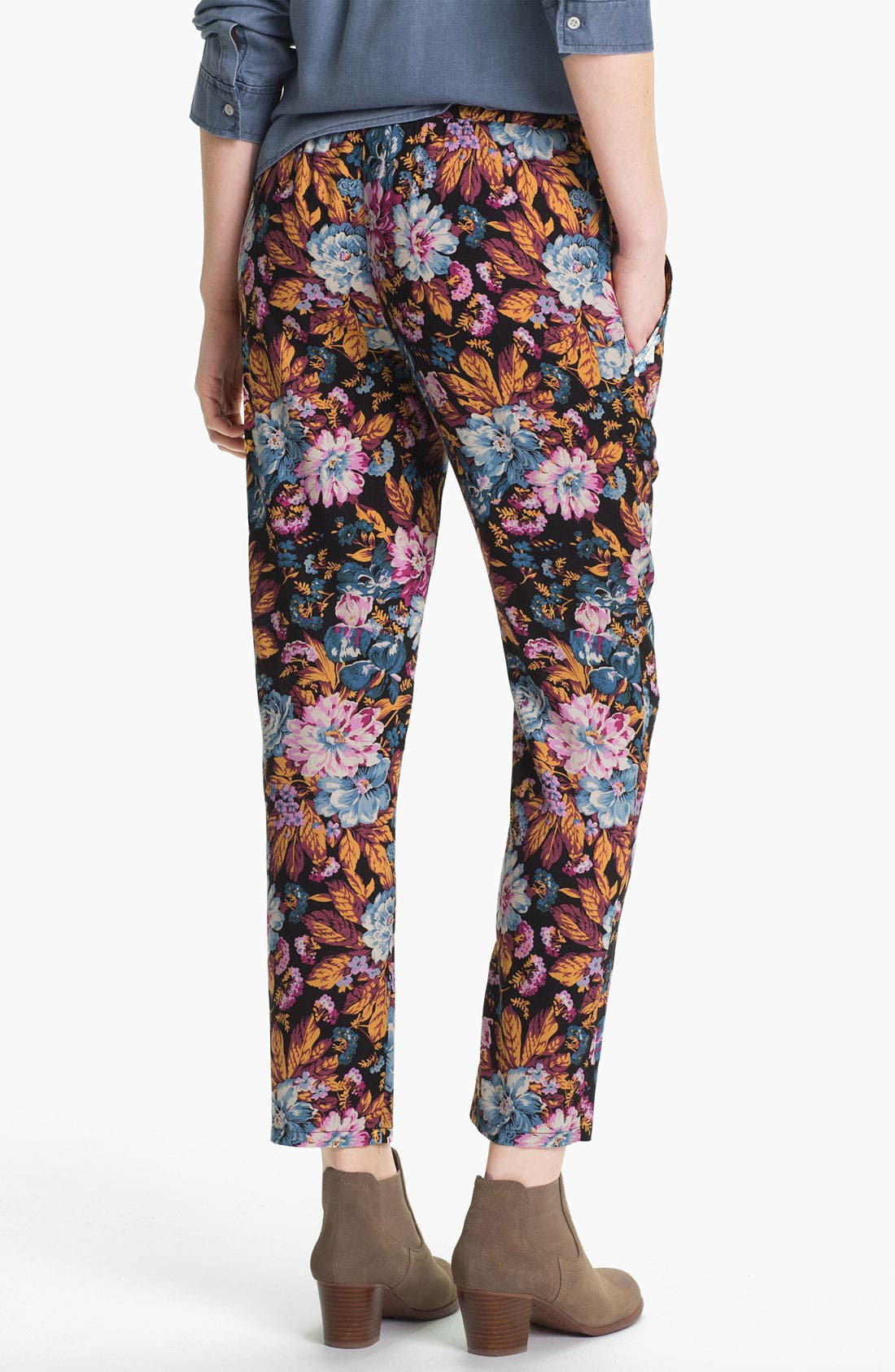 Alternate Image 2  - Lily White Print Tapered Pants (Juniors)