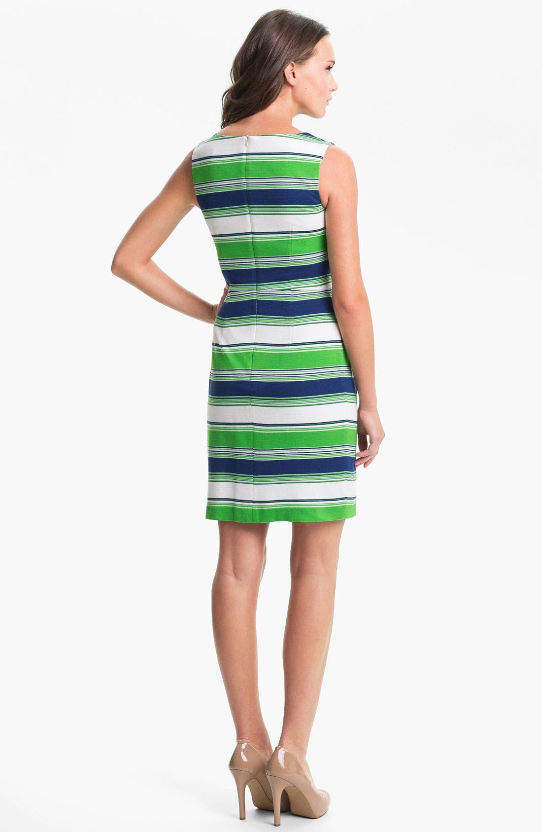 Alternate Image 2  - Trina Turk 'Spectator' Stripe Ponte Sheath Dress