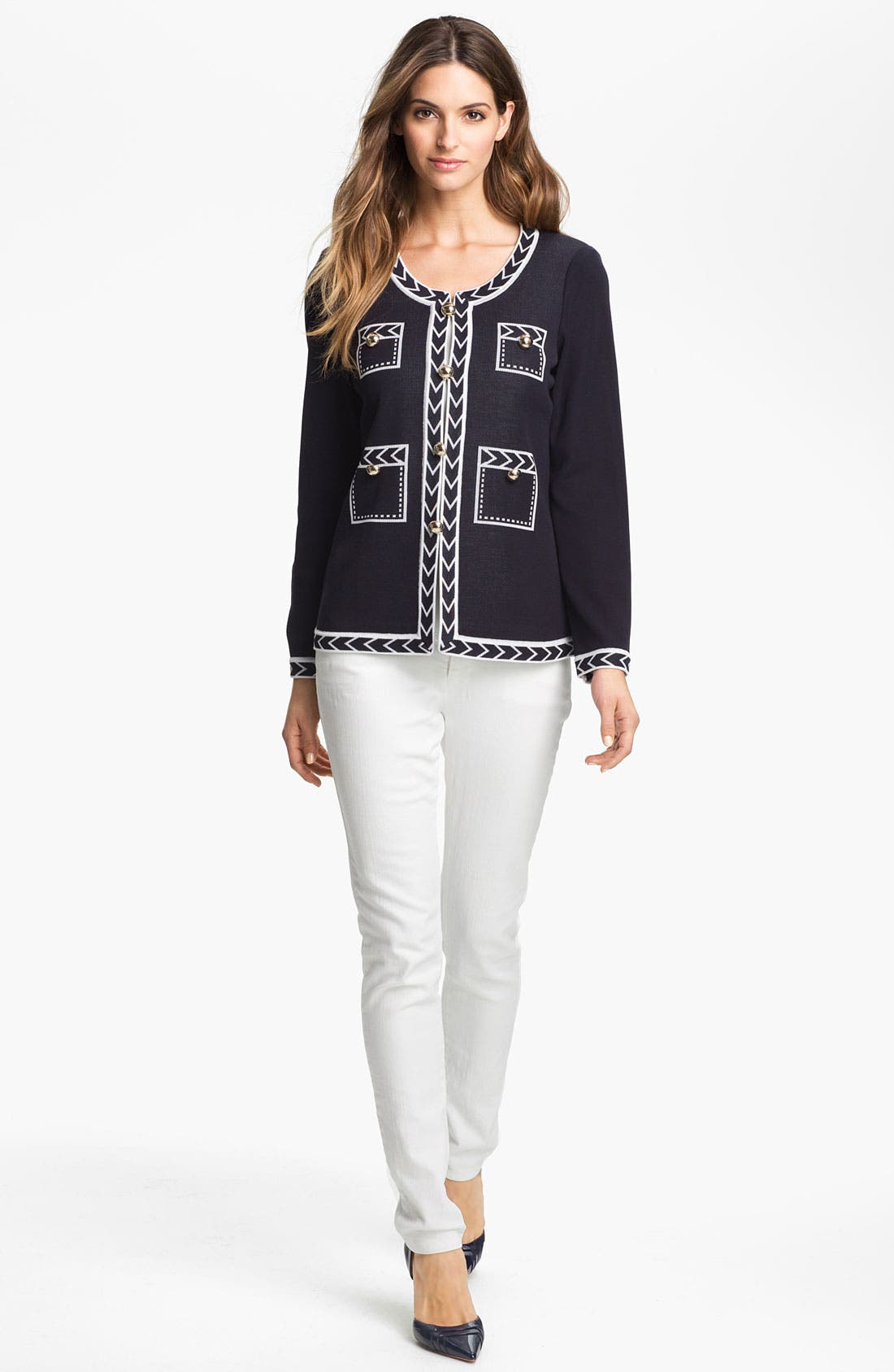 Alternate Image 4  - Exclusively Misook 'Adrienne' Jacket (Petite) (Online Only)