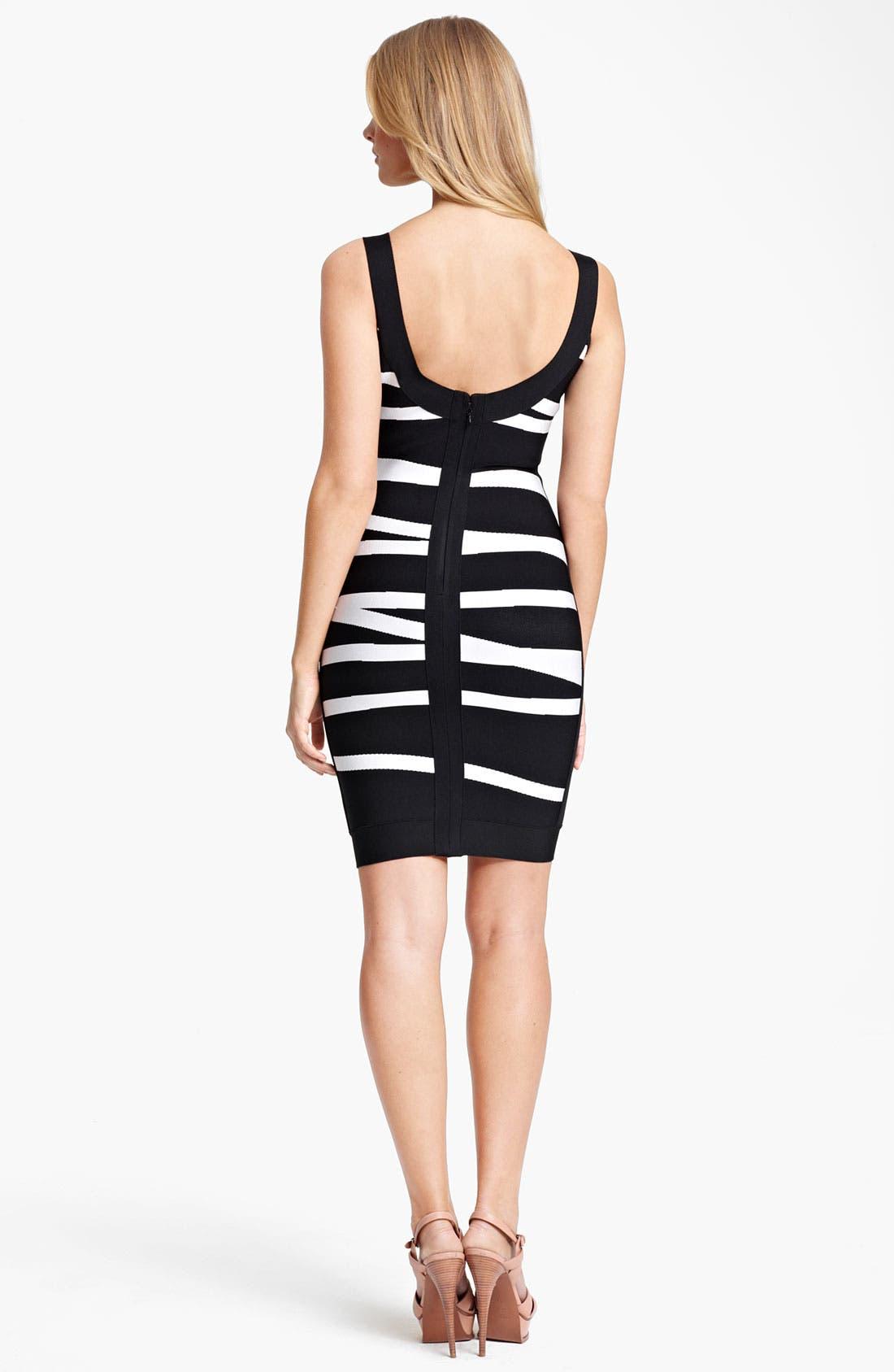 Alternate Image 2  - Herve Leger Contrast Stripe Dress