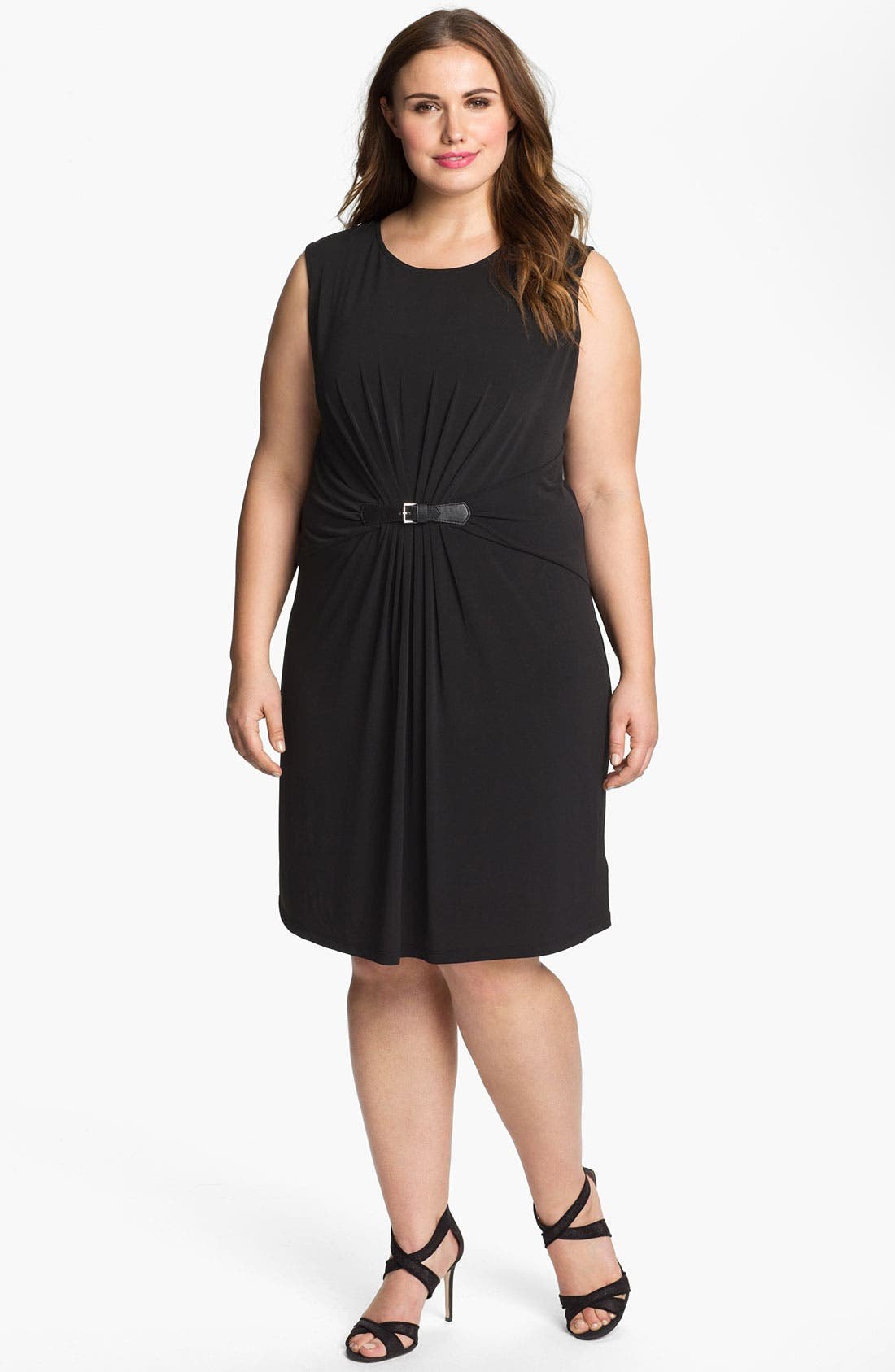 Main Image - MICHAEL Michael Kors Belted Sheath Dress