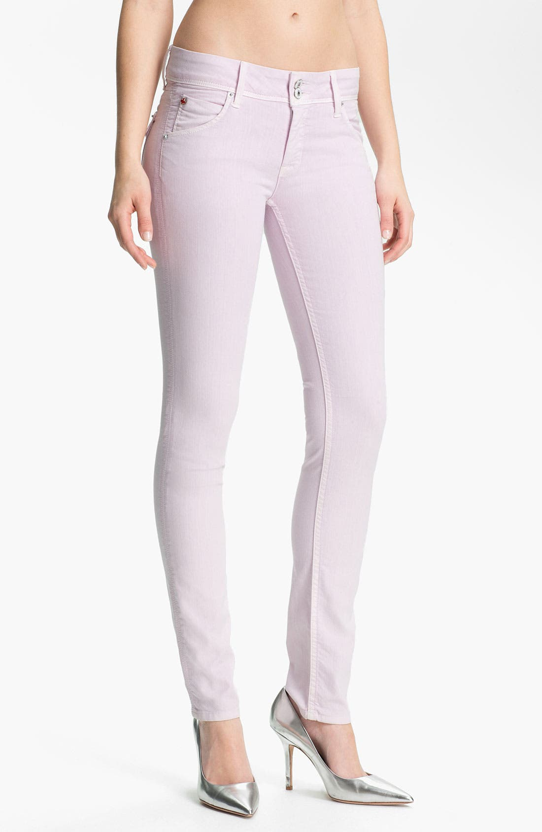 Alternate Image 1 Selected - Hudson Jeans Skinny Stretch Jeans (Lilac)