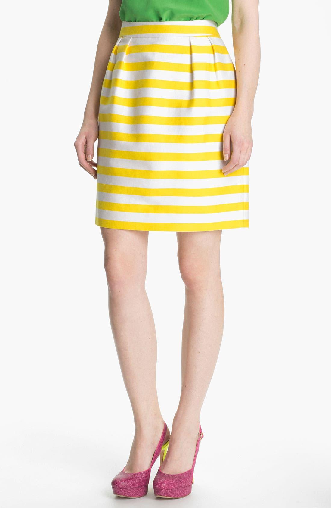 Main Image - kate spade new york 'barry' silk blend skirt