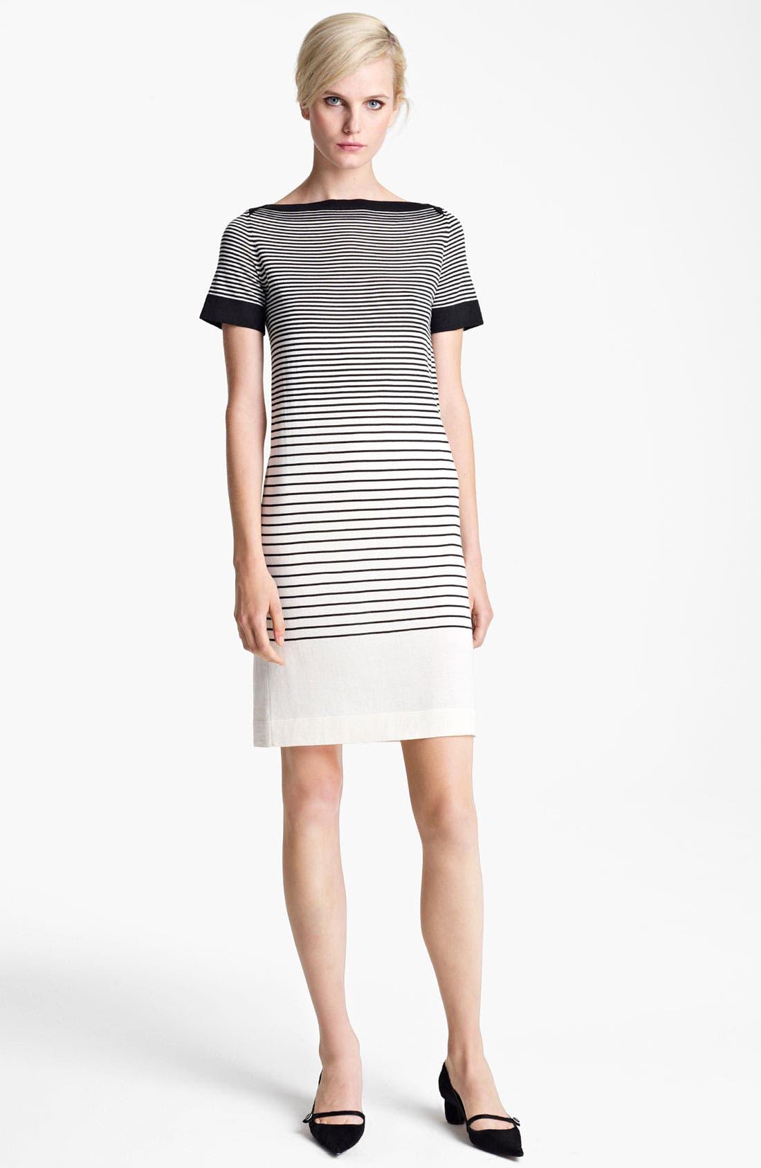 Main Image - MARC JACOBS Stripe Short Sleeve Dress