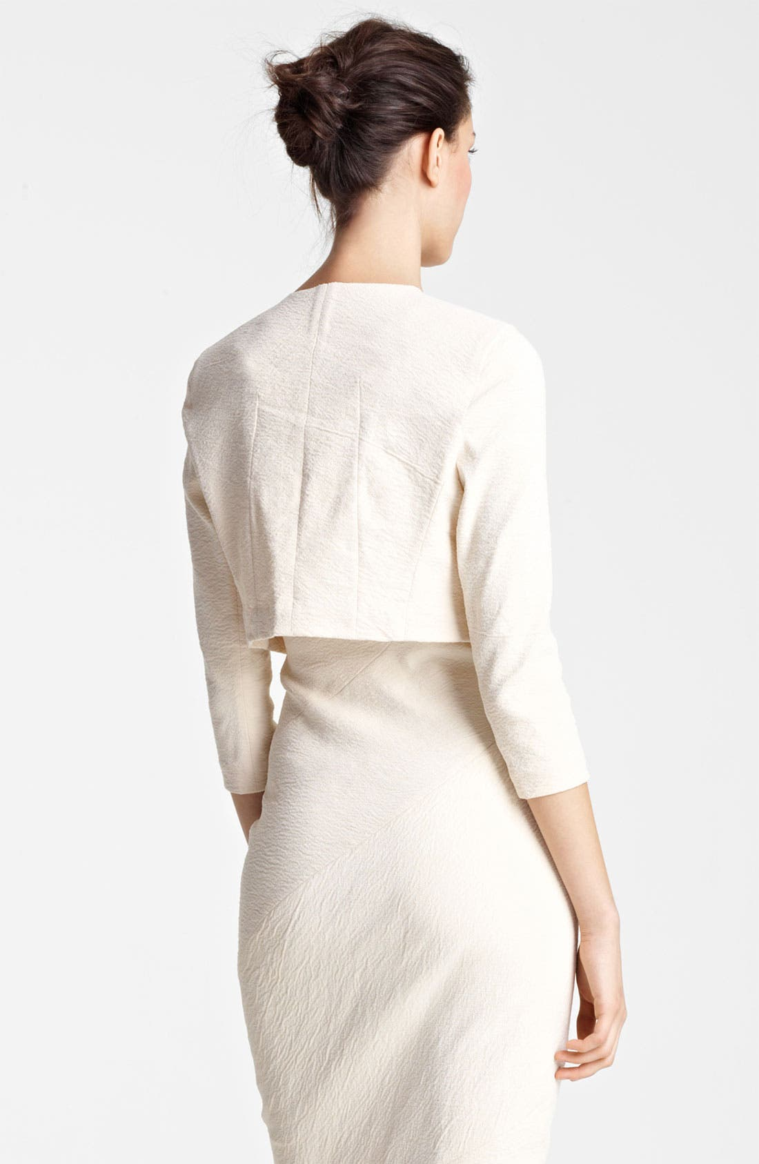 Alternate Image 3  - Donna Karan Collection Canvas Cardigan Jacket