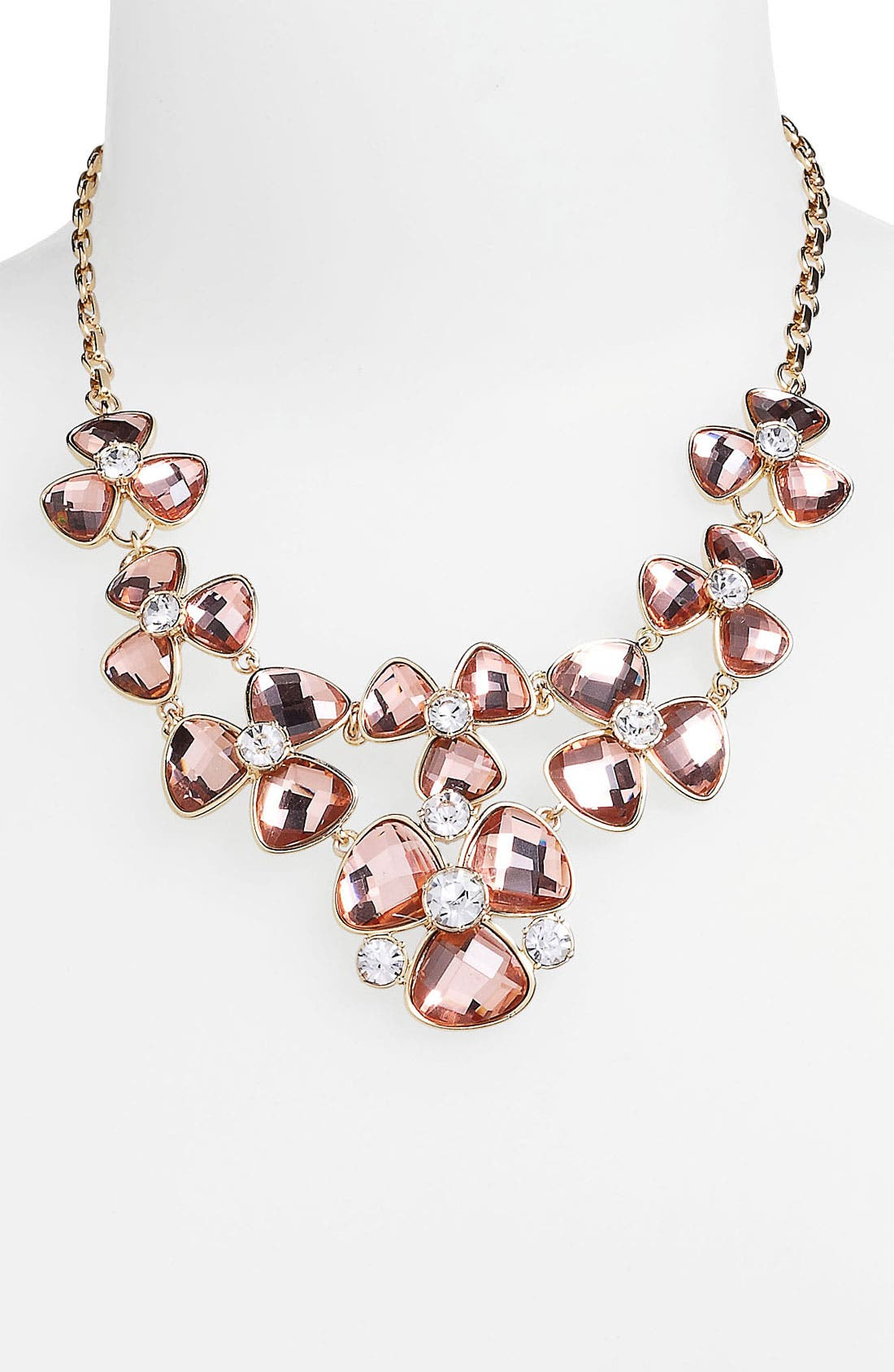 Alternate Image 1 Selected - Anne Klein Floral Bib Necklace