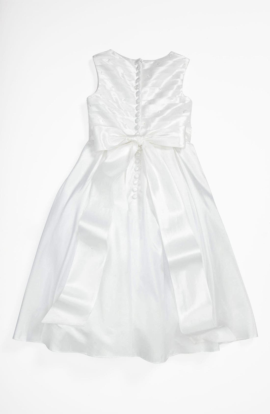 Alternate Image 2  - Lauren Marie Pleated Bodice Dress (Little Girls & Big Girls)