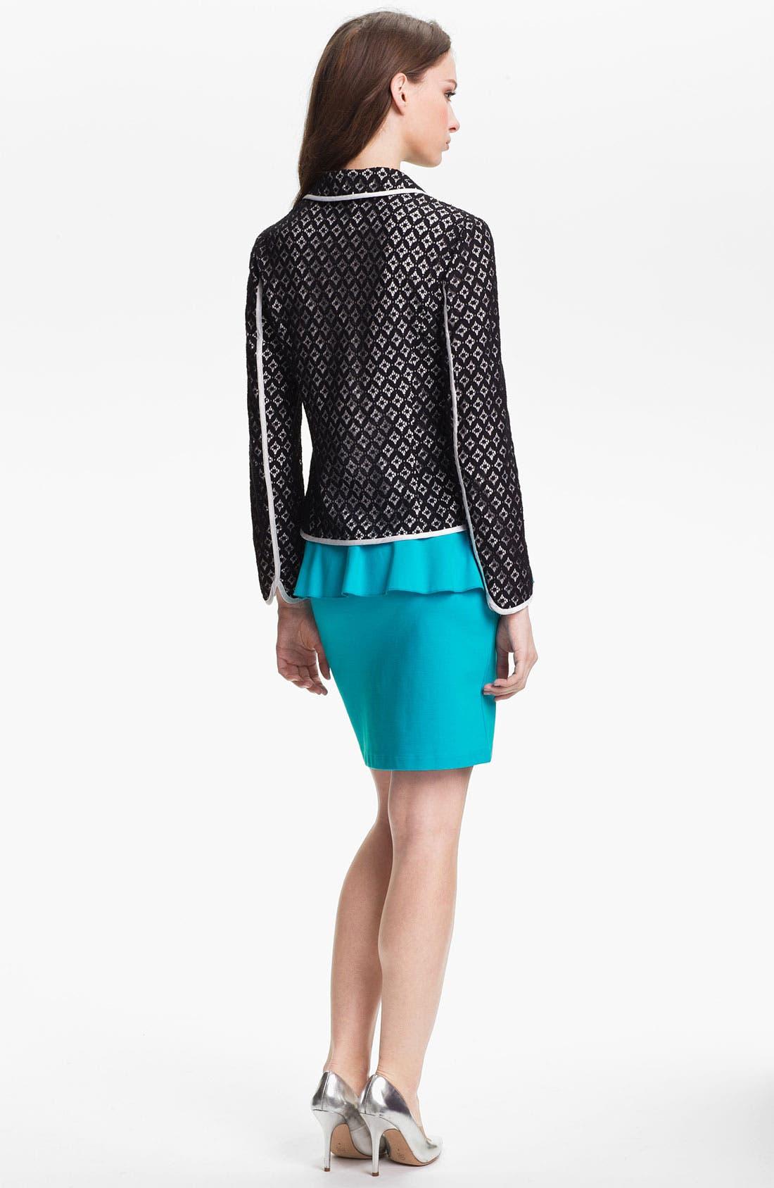 Alternate Image 5  - Kensie Peplum Ponte Skirt