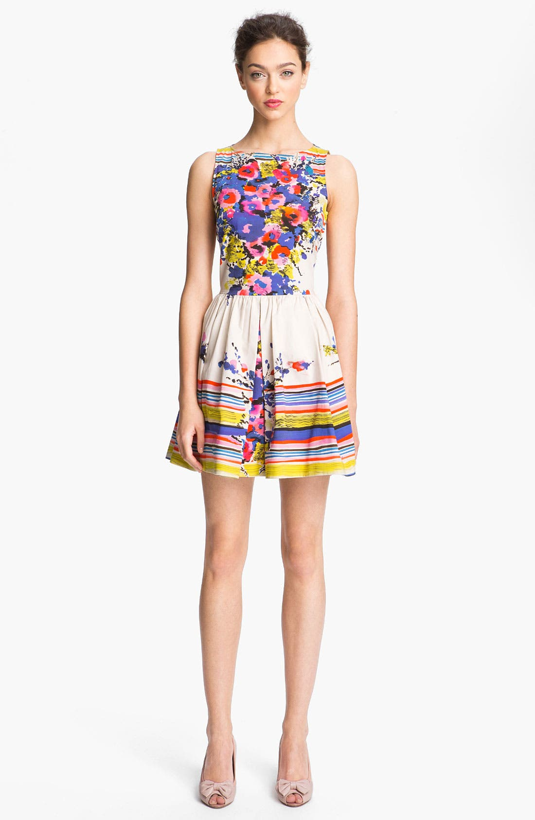Alternate Image 1 Selected - RED Valentino Bouquet Print Dress