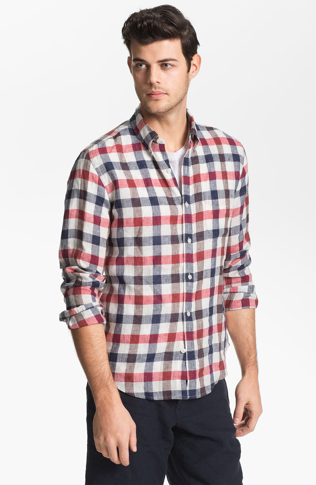 Alternate Image 1 Selected - Vince Regular Fit Linen Sport Shirt