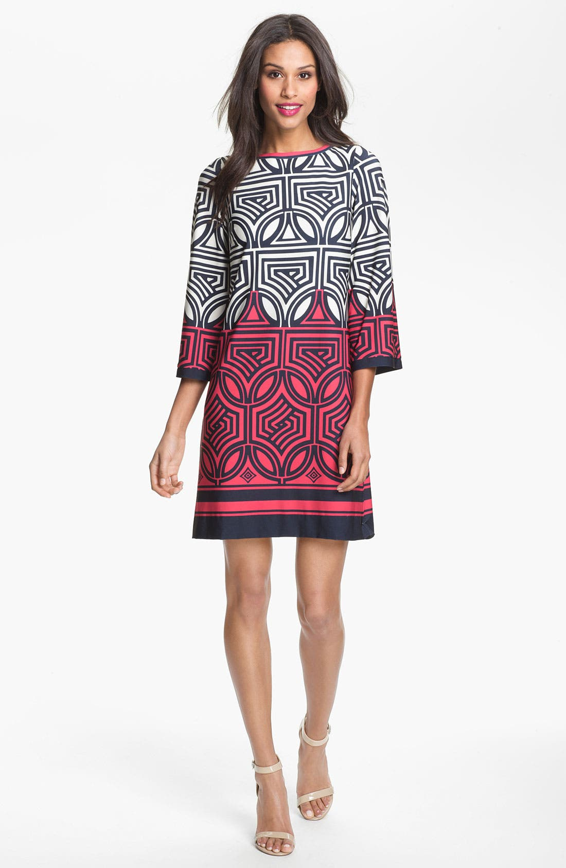 Alternate Image 1 Selected - Eliza J Print Shift Dress