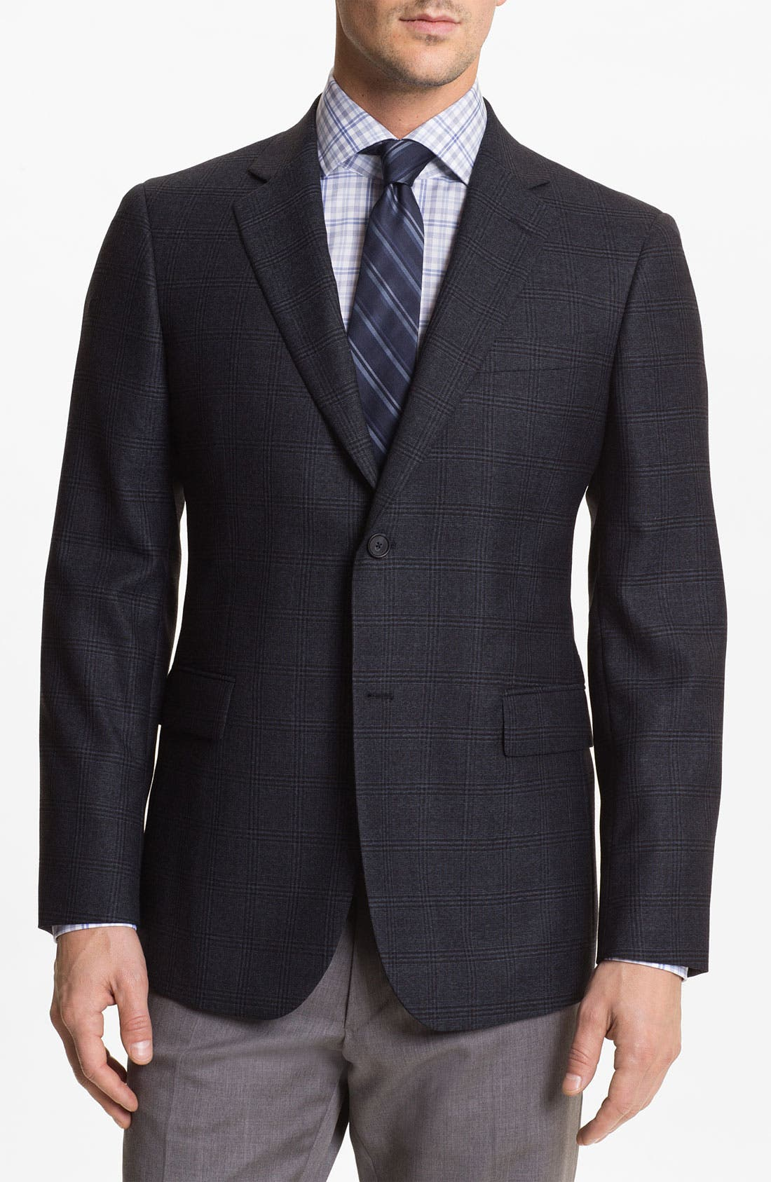 Main Image - John W. Nordstrom® Plaid Wool Sportcoat