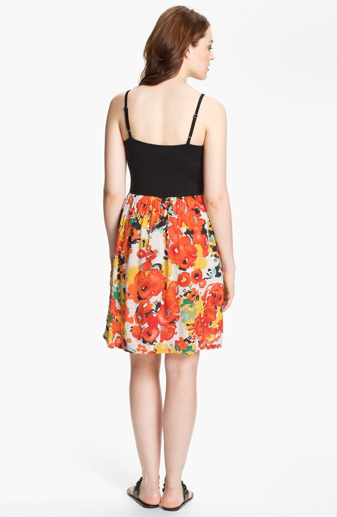 Alternate Image 2  - Caslon® Mixed Media Dress