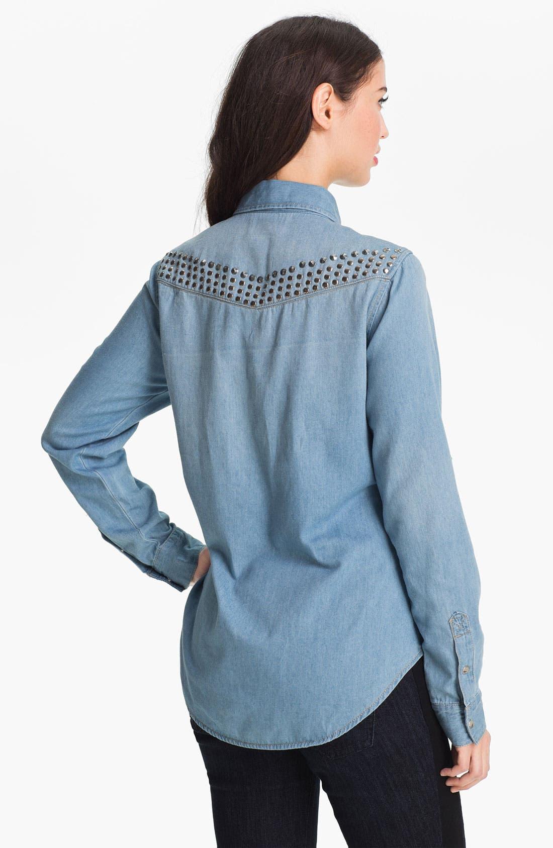 Alternate Image 2  - Wit & Wisdom Studded Denim Shirt (Nordstrom Exclusive)