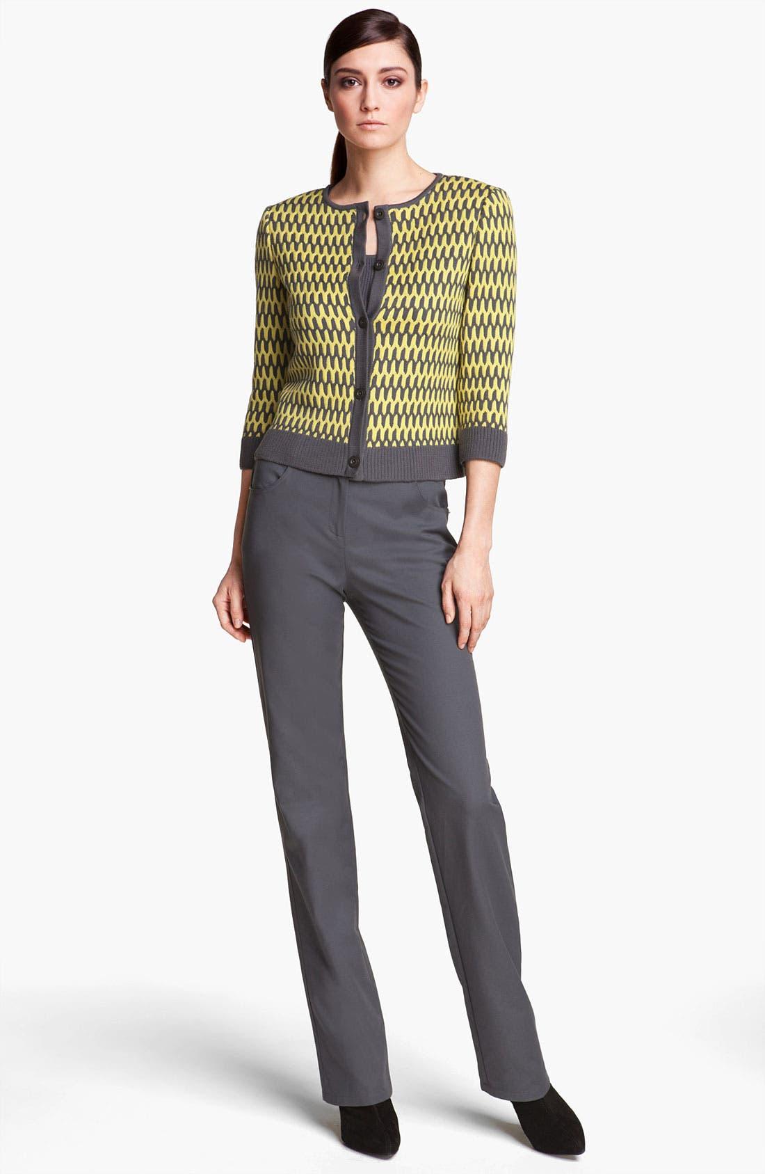 Alternate Image 2  - St. John Yellow Label 'Marie' Double Weave Stretch Cotton Pants