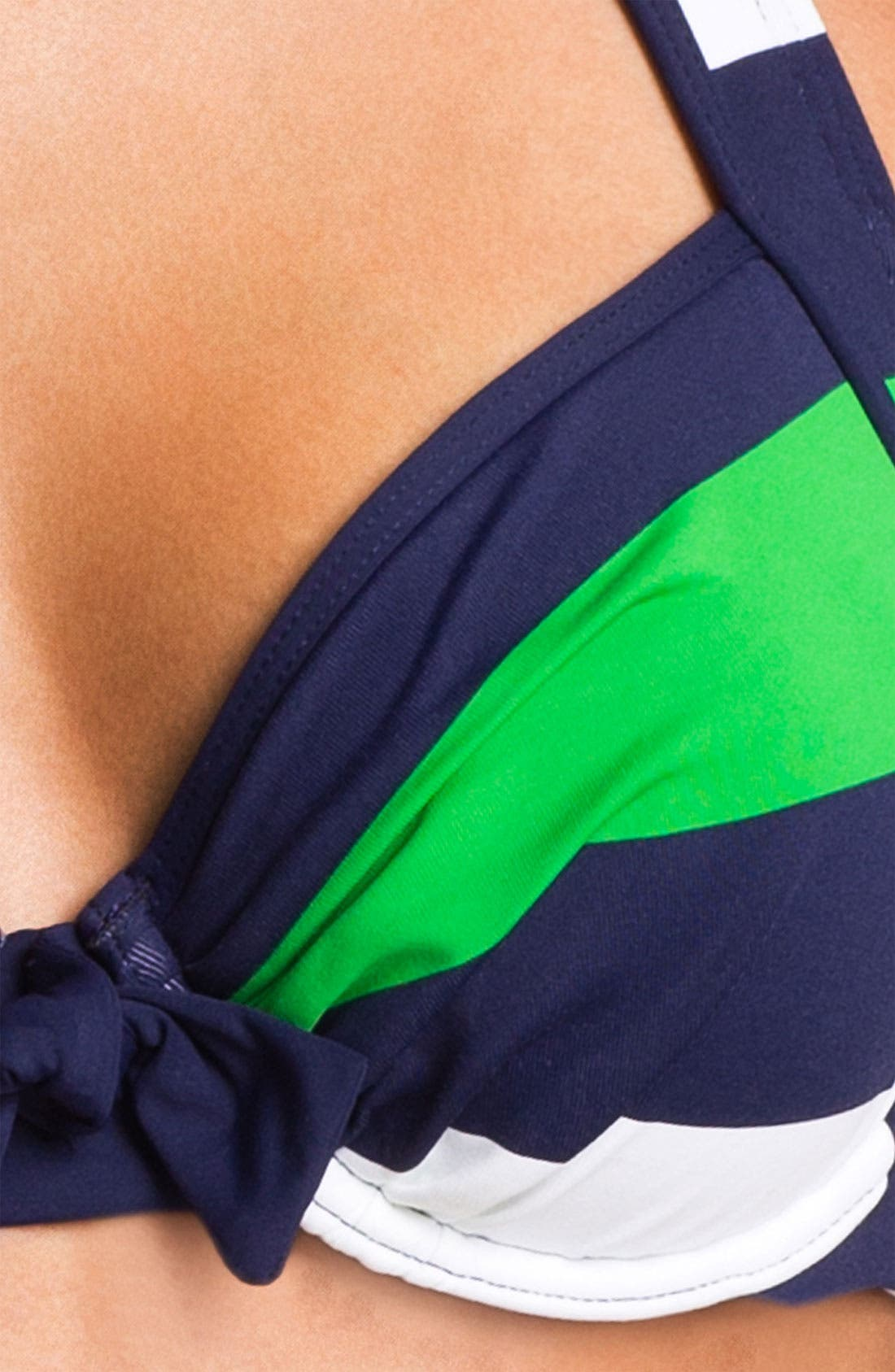 Alternate Image 3  - Tommy Bahama 'Rugby Stripe' Underwire Bikini Top