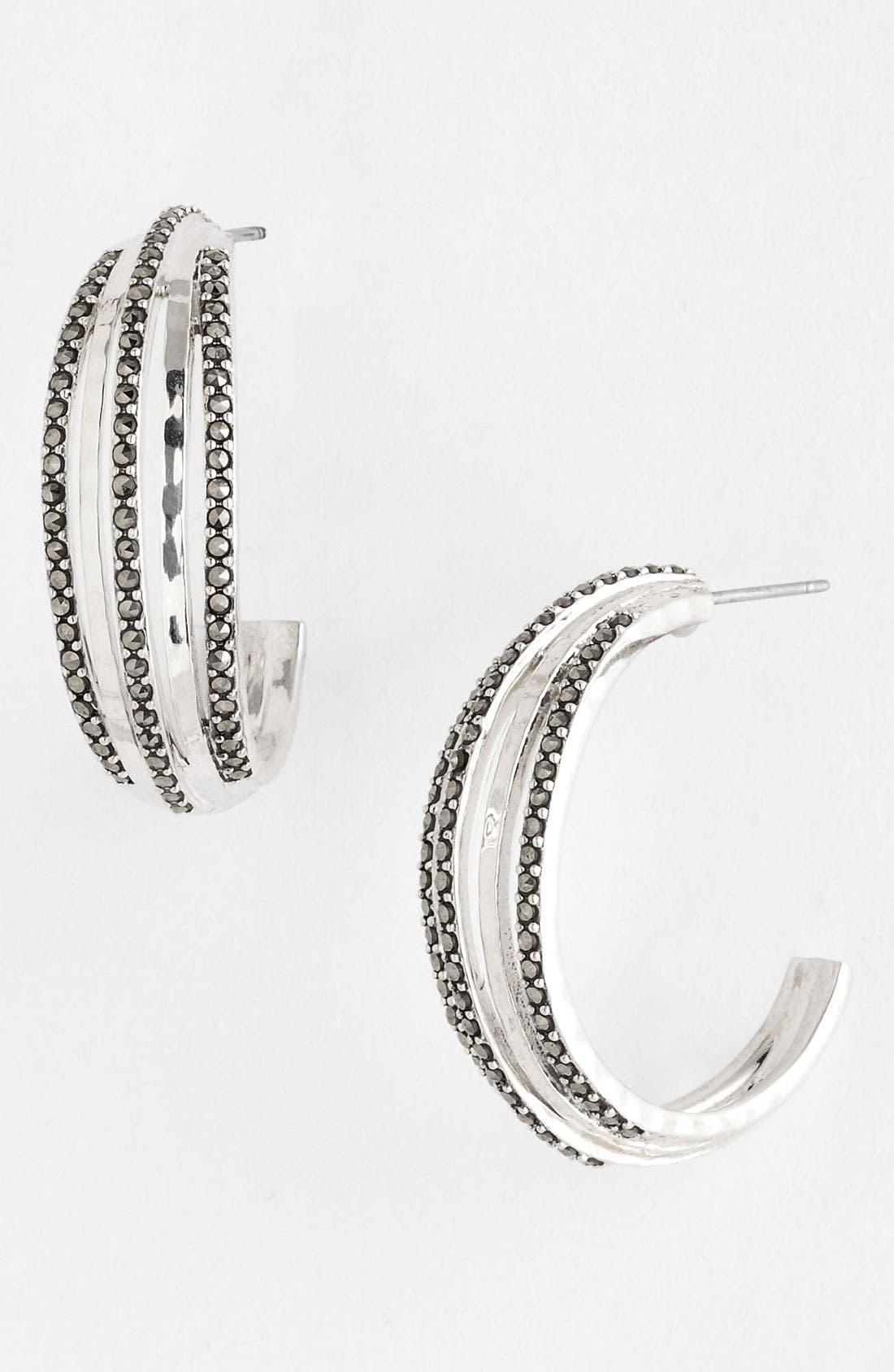 Alternate Image 1 Selected - Judith Jack 'Fluidity' Hoop Earrings