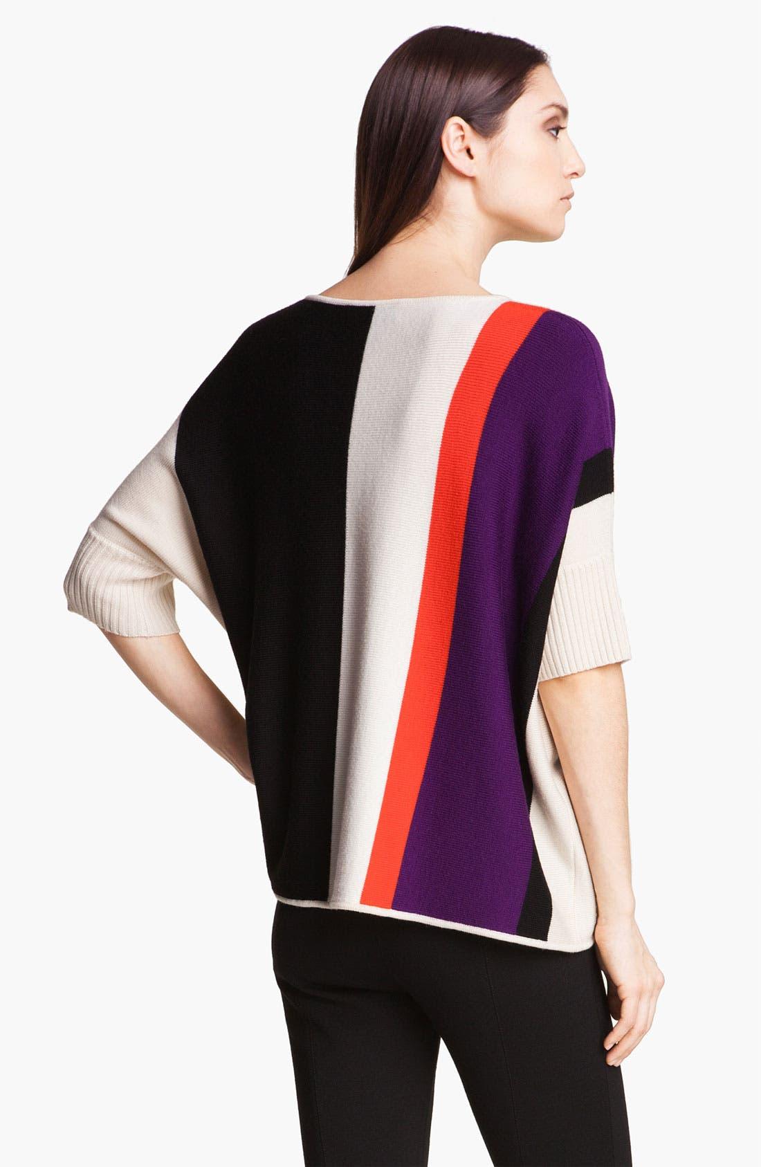 Alternate Image 4  - St. John Yellow Label Colorblock Sweater