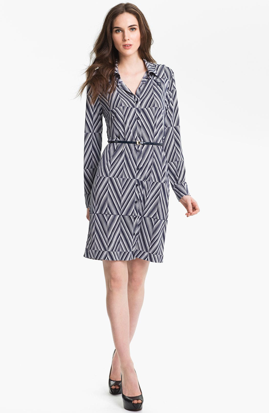 Alternate Image 1 Selected - Anne Klein 'Leo - Diamond' Shirtdress