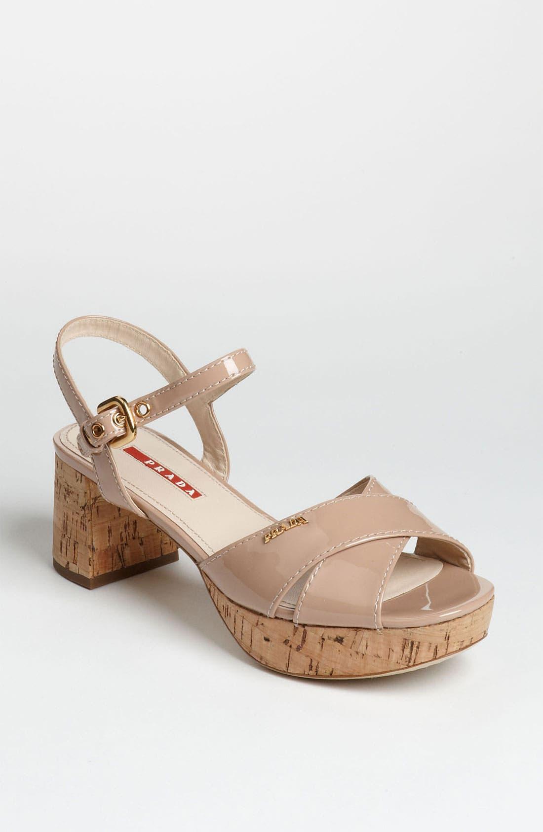 Alternate Image 1 Selected - Prada Cork Heel Sandal