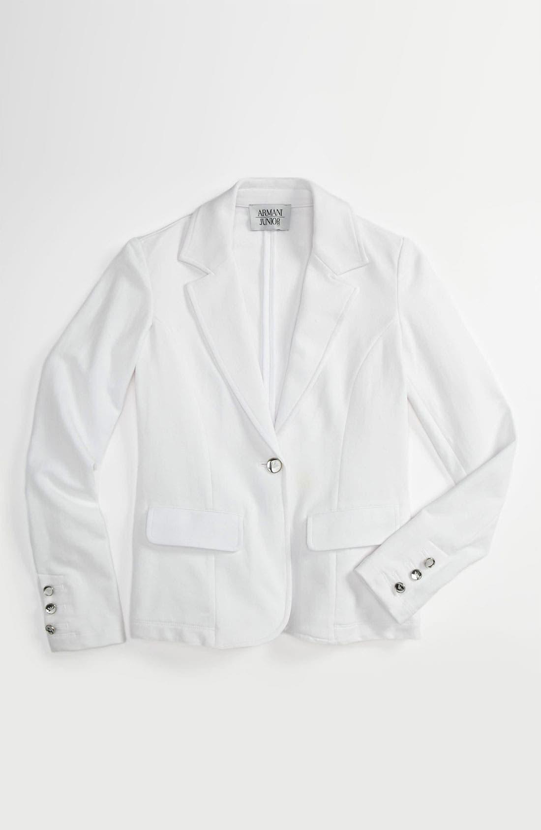 Main Image - Armani Junior Jersey Blazer (Big Girls)