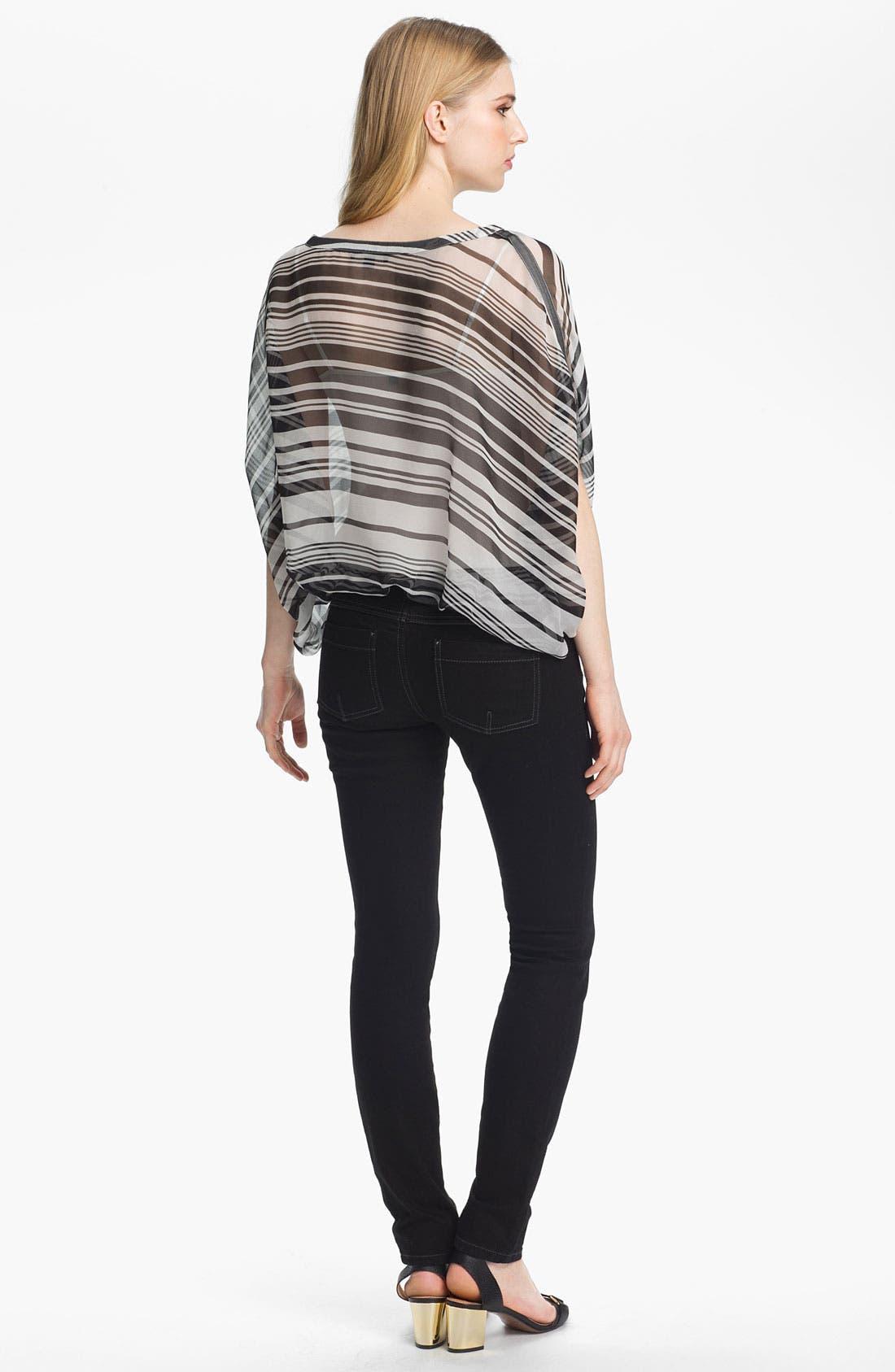 Alternate Image 2  - Rachel Zoe 'Noel' Stripe Silk Top