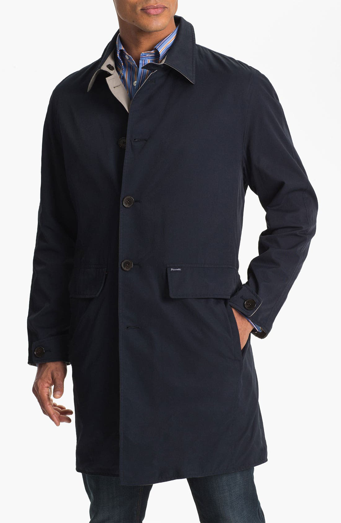 Alternate Image 1 Selected - Façonnable Reversible Trench Coat
