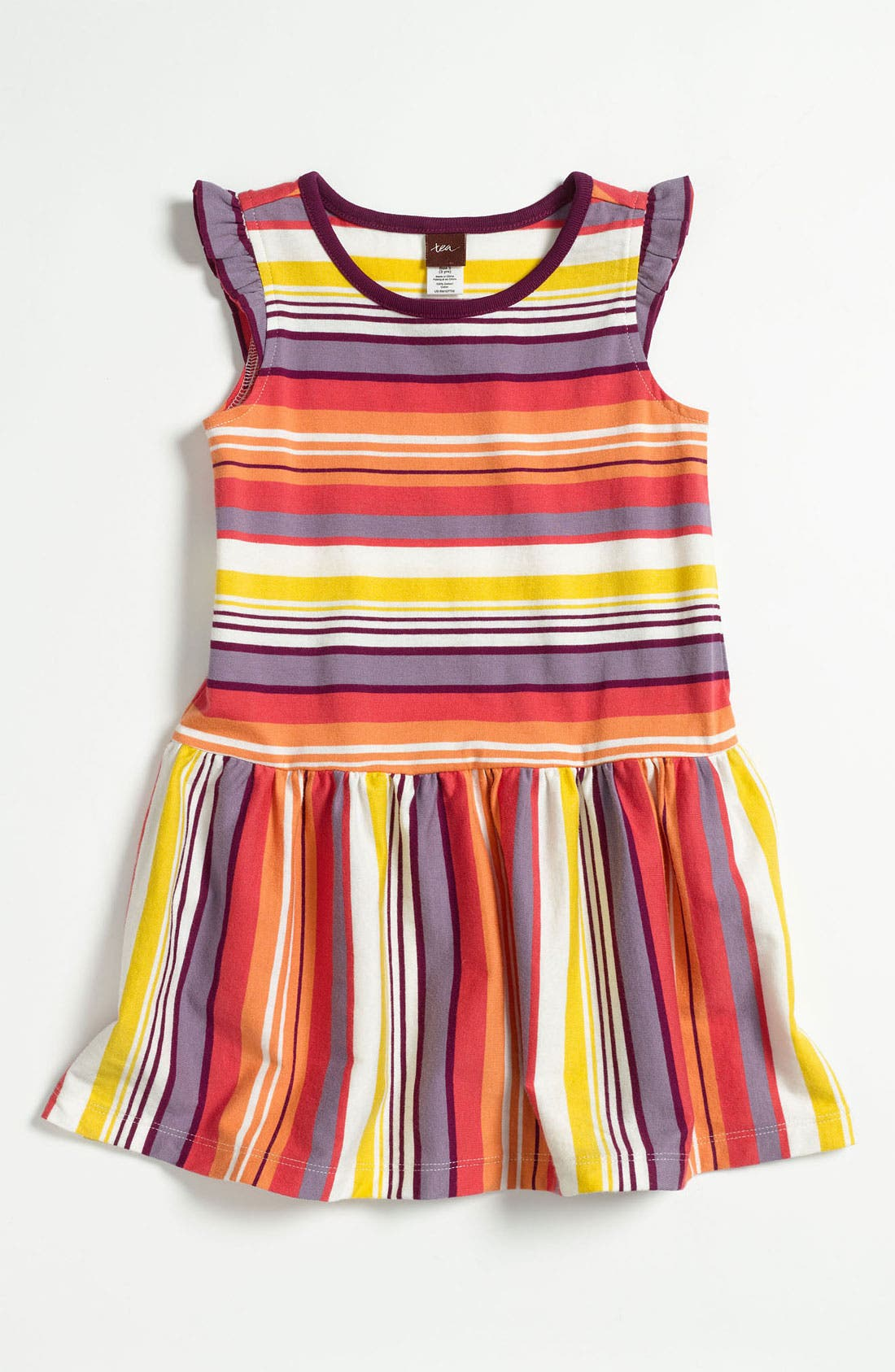 Alternate Image 1 Selected - Tea Collection 'Sunset Stripe' Dress (Infant)