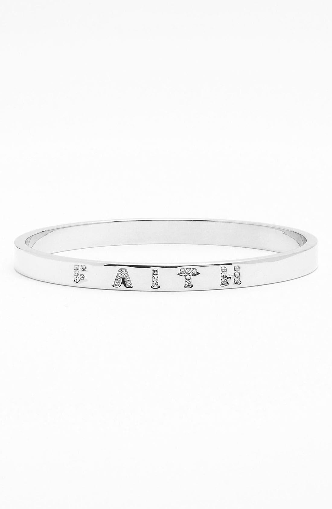 Main Image - Ariella Collection 'Messages - Faith' Pavé Bangle