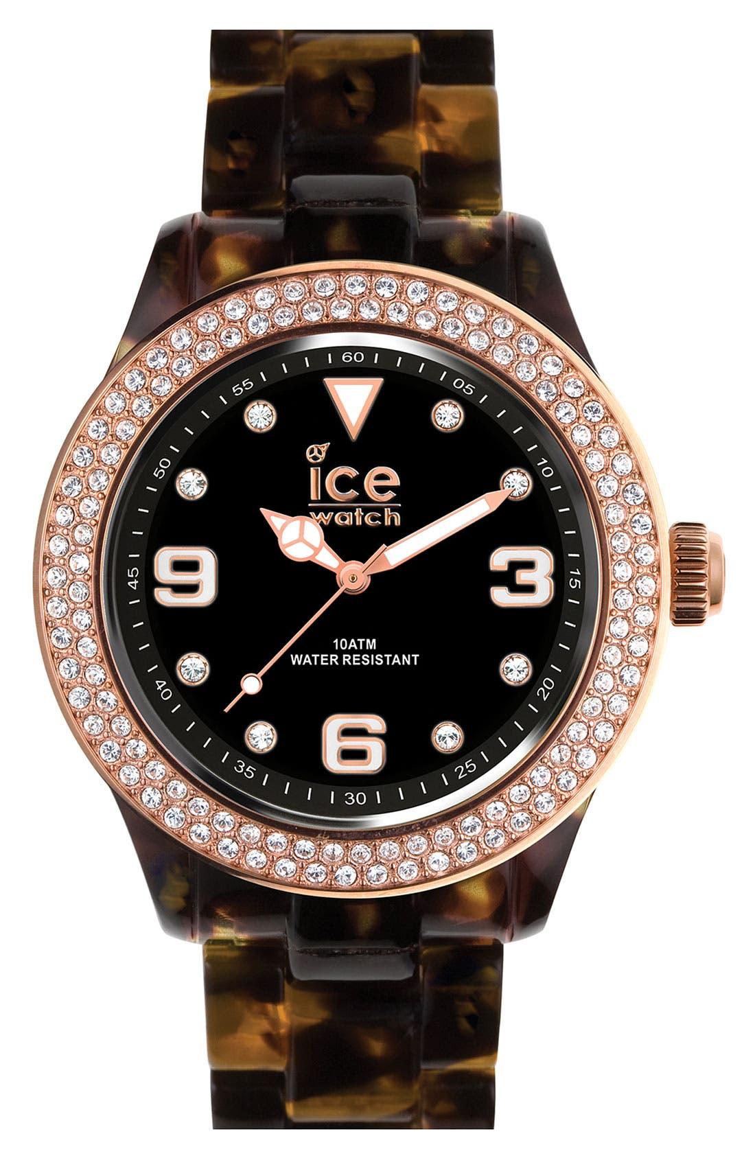 Alternate Image 1 Selected - ICE Watch 'Elegant' Crystal Bezel Watch, 43mm