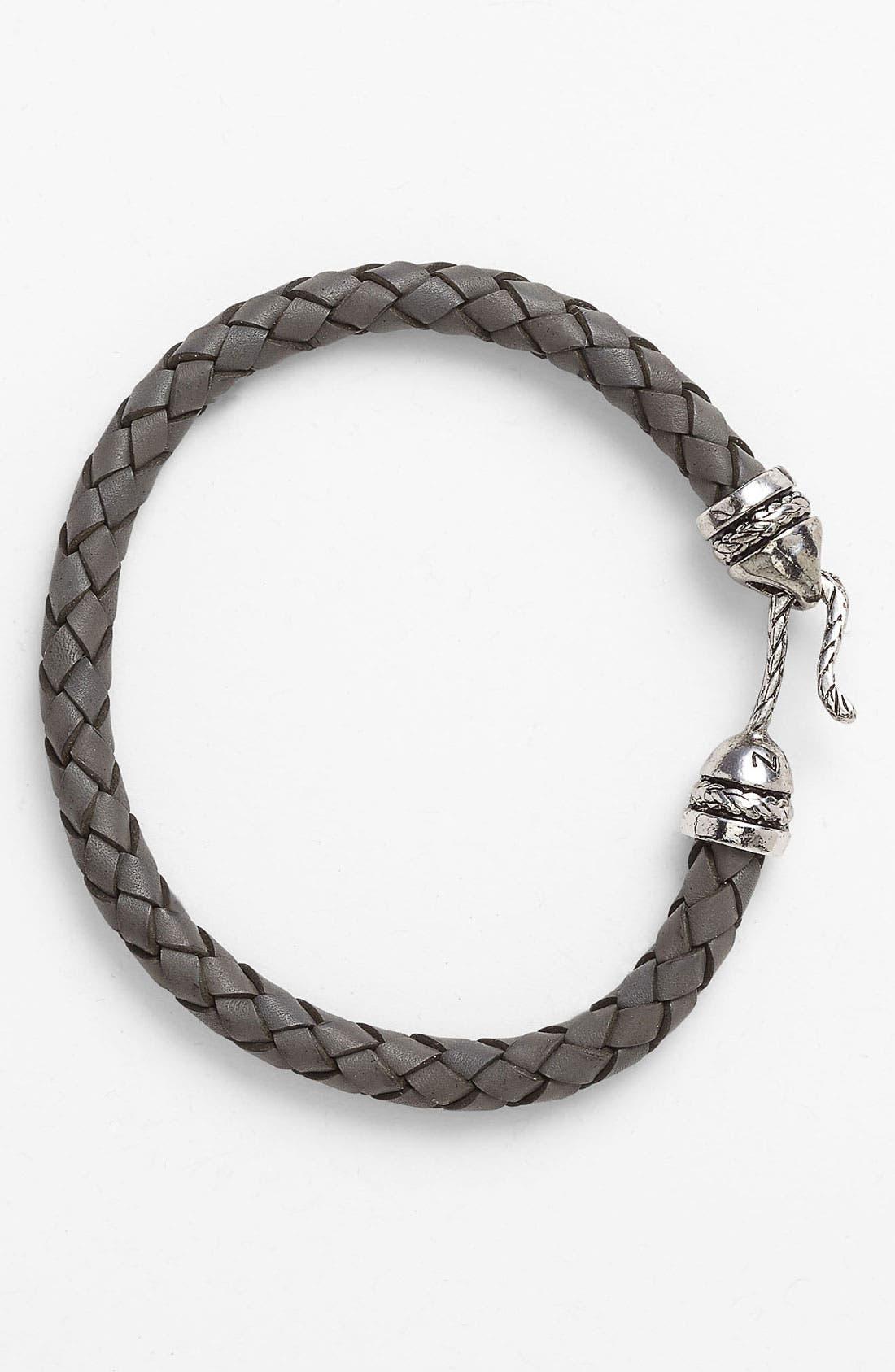 Alternate Image 1 Selected - Zack Woven Leather Bracelet