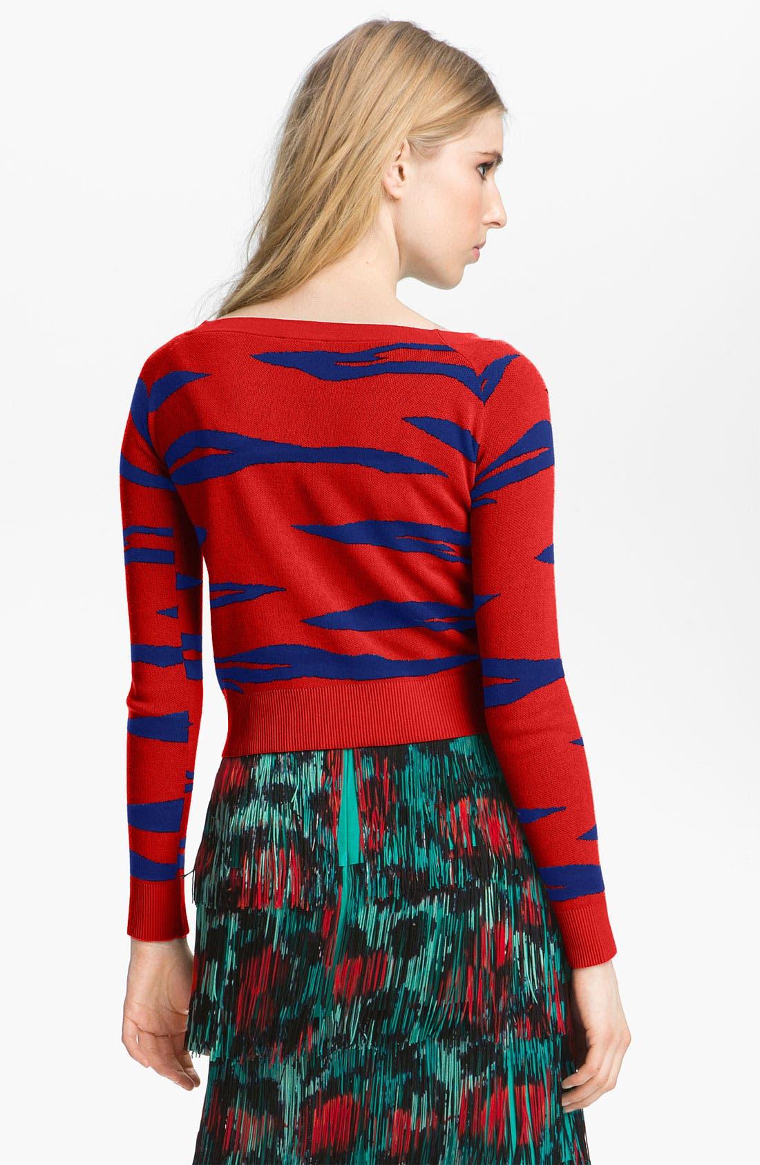 Alternate Image 2  - KENZO Tiger Stripe Jacquard Sweater