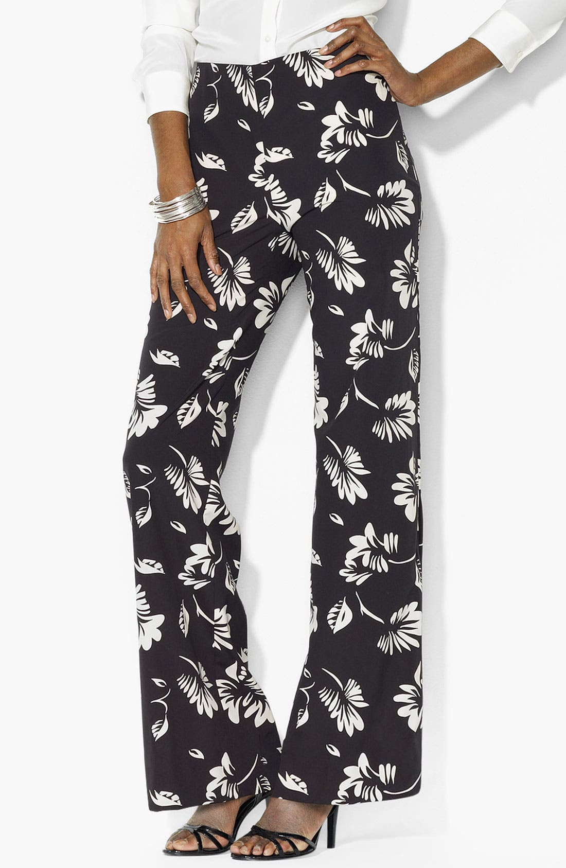 Main Image - Lauren Ralph Lauren Floral Print Pants