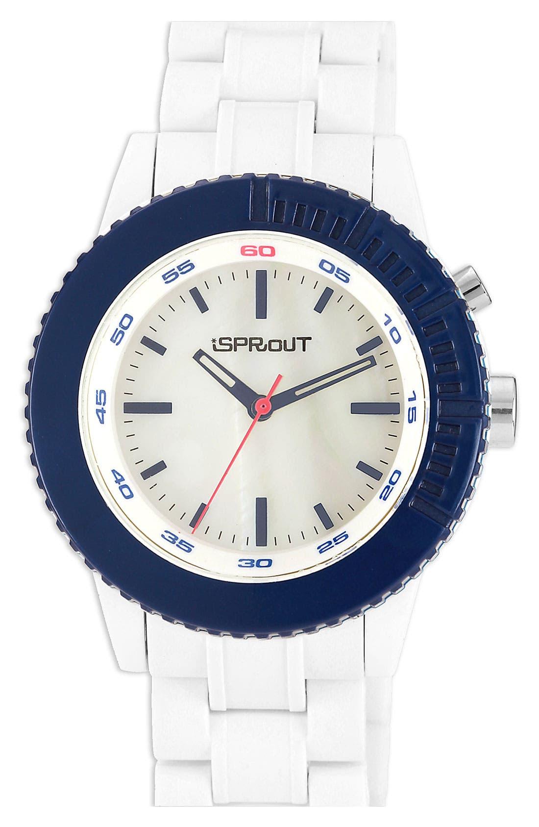 Main Image - SPROUT™ Watches Color Bezel Bracelet Watch, 45mm