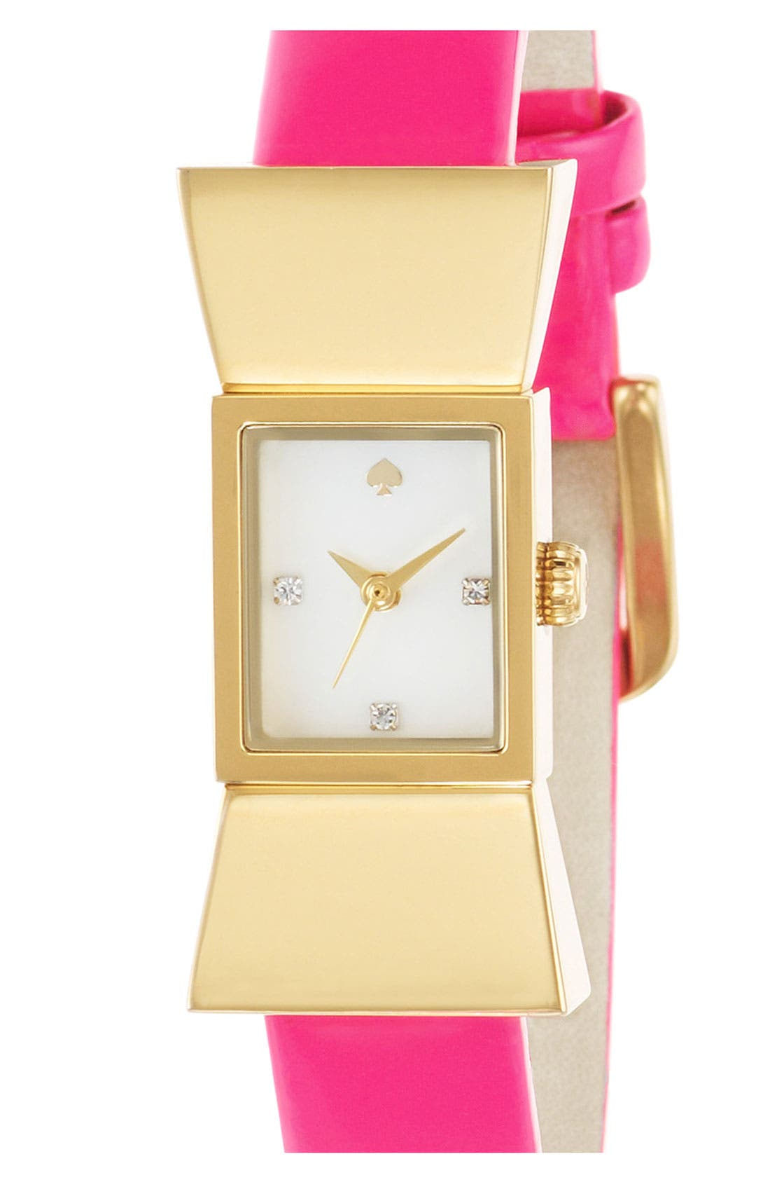 Alternate Image 2  - kate spade new york square leather strap watch, 18mm x 39mm