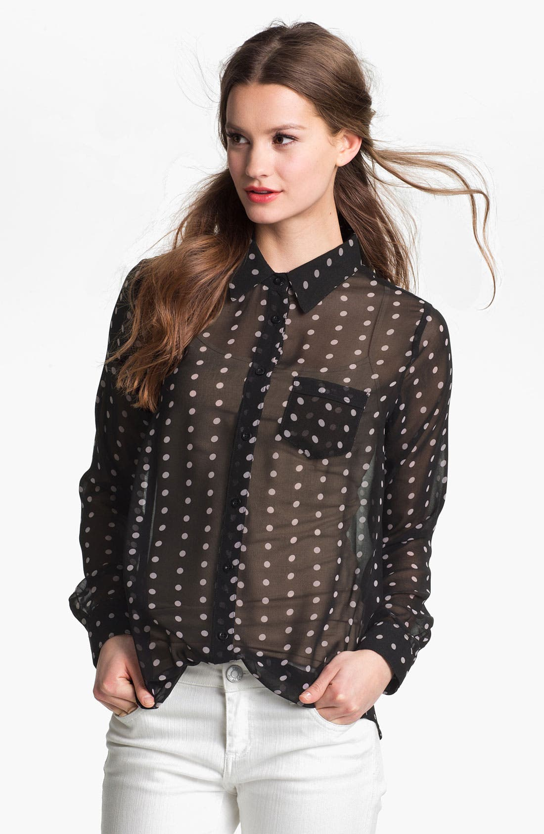 Alternate Image 1 Selected - Press Easy Fit Chiffon Shirt