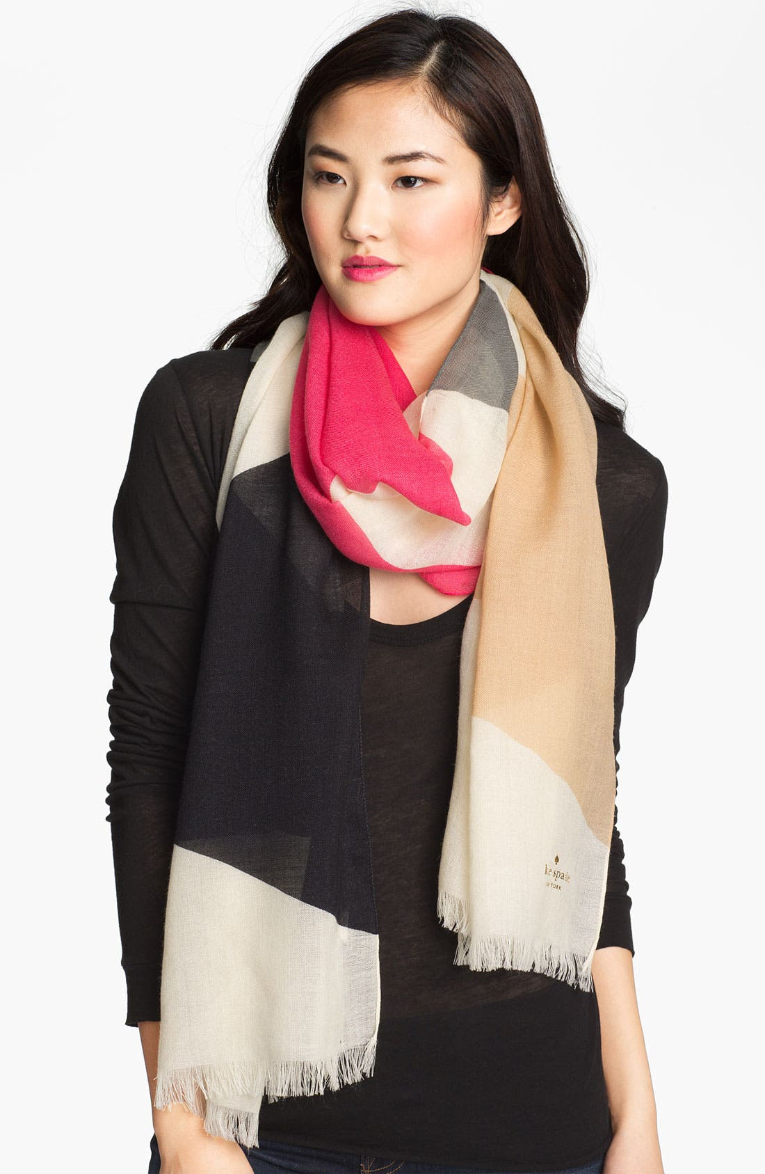 Main Image - kate spade new york 'abstract bow' wool scarf