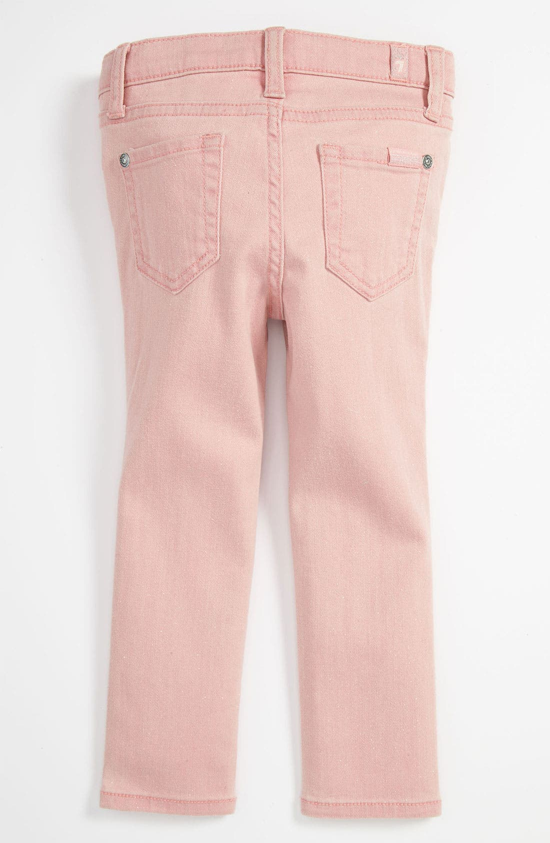 Alternate Image 1 Selected - 7 For All Mankind® Sparkle Skinny Jeans (Baby)