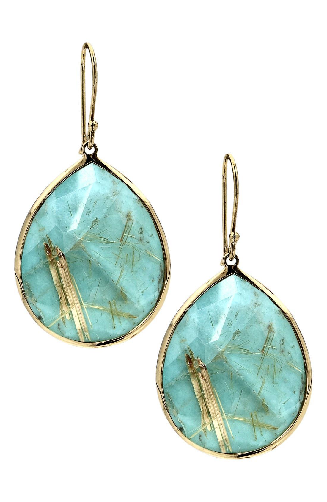 Alternate Image 1 Selected - Ippolita 'Rock Candy - Large Teardrop' 18k Gold Earrings