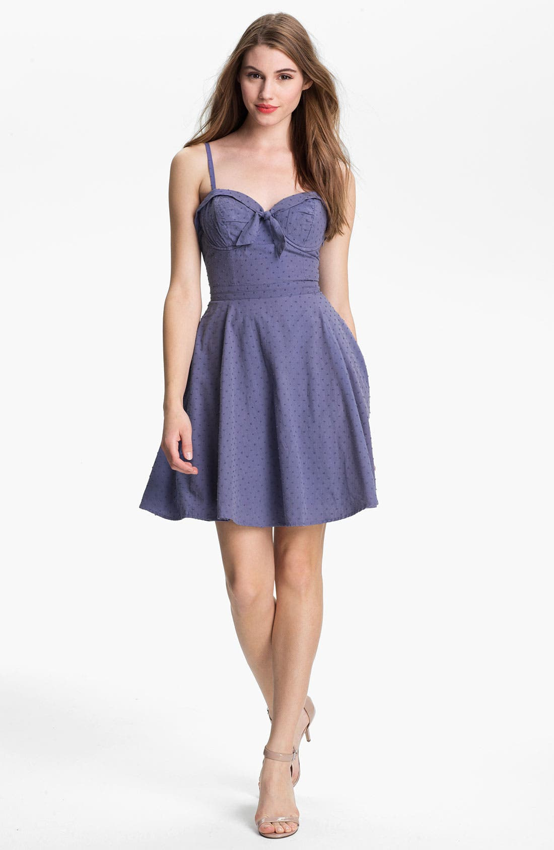 Alternate Image 1 Selected - Jessica Simpson 'Ava' Swiss Dot Dress (Online Exclusive)