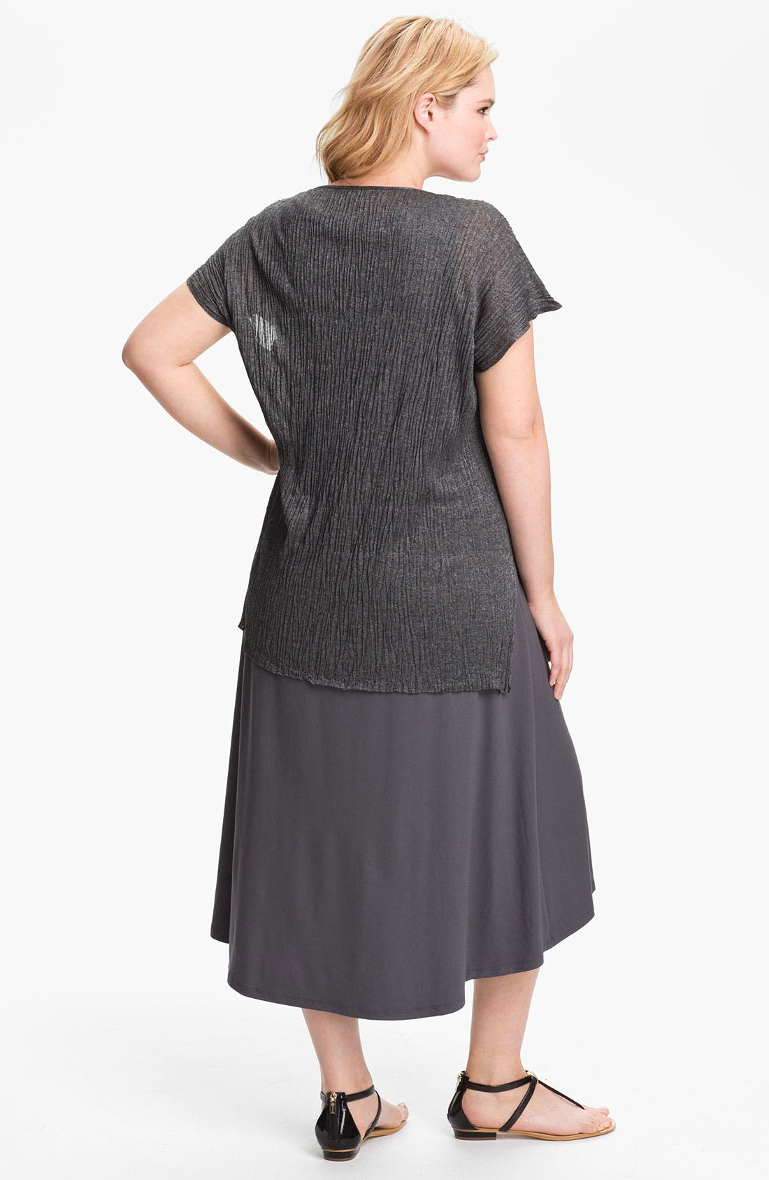 Alternate Image 5  - Eileen Fisher Crinkled Tunic (Plus Size)