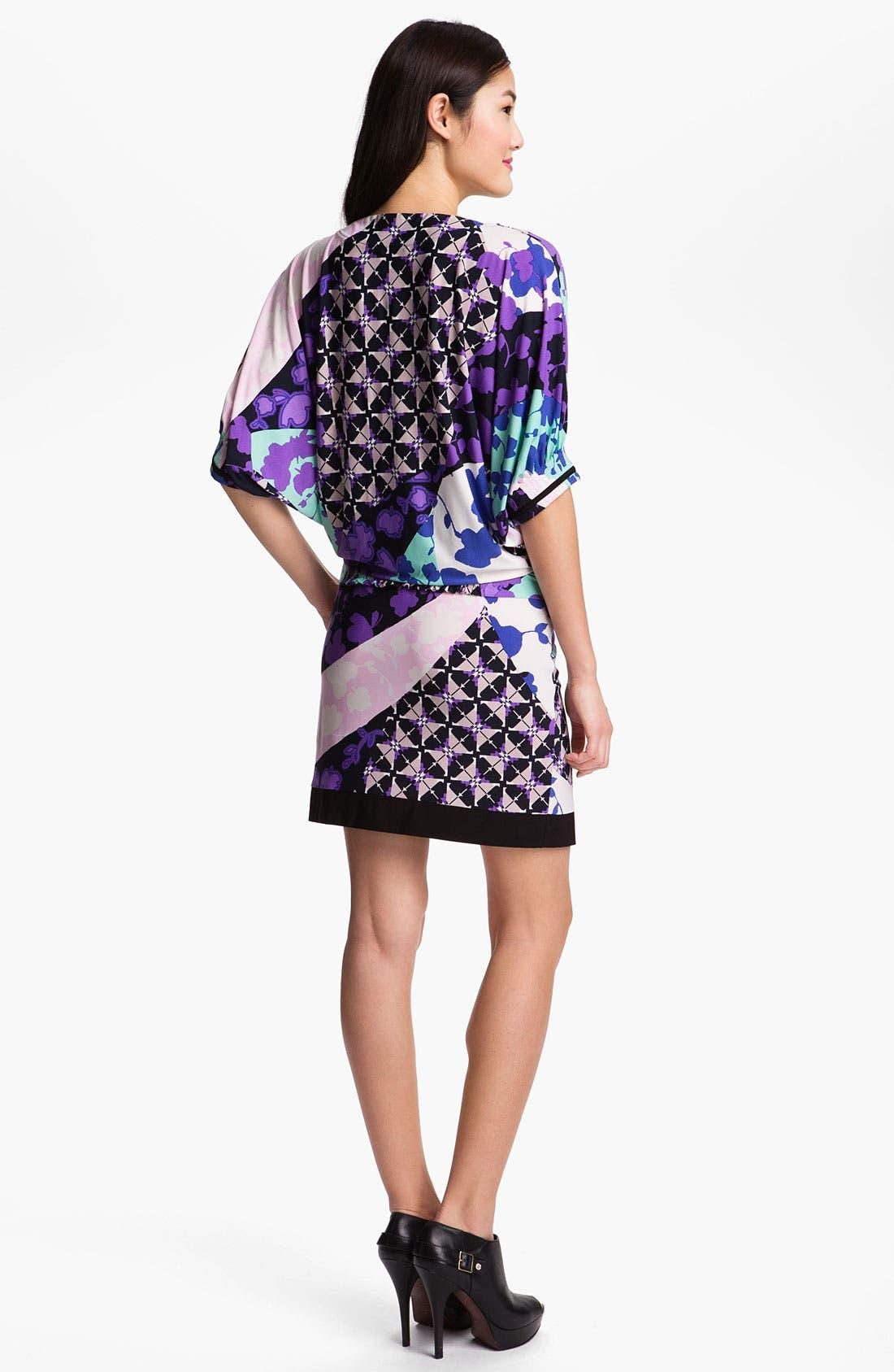Alternate Image 2  - Donna Morgan Print Matte Jersey Blouson Dress