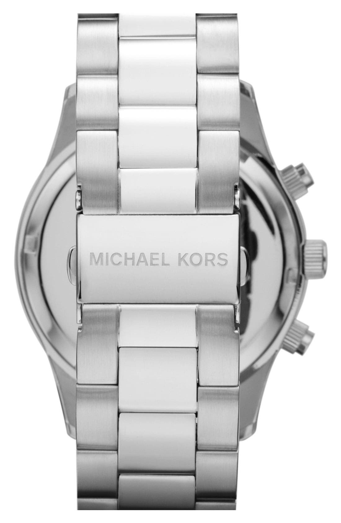 Alternate Image 3  - Michael Kors 'Layton' Chronograph Bracelet Watch, 44mm
